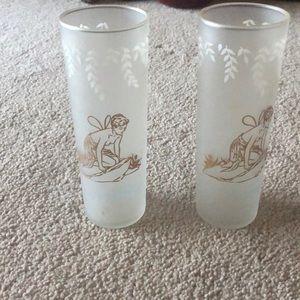 Vintage ice tea glasses